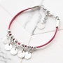 Fashion bracelets and keychain with trendy flat cord suede style