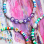 You can make these bracelets and necklaces with Katsuki beads, freshwater pearls and letter beads: