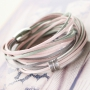 Bracelets with silk look with our new trendy cord in silk style