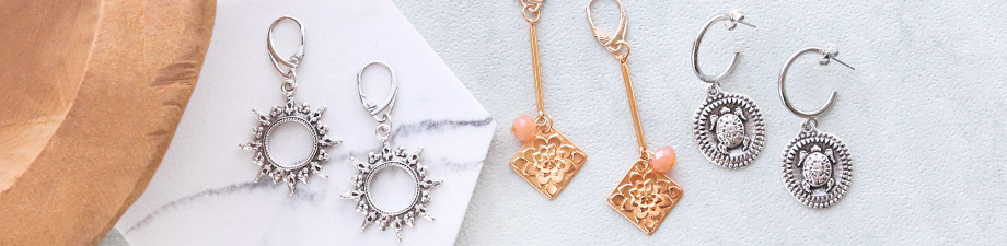 NEW! DQ European metal findings + charms!